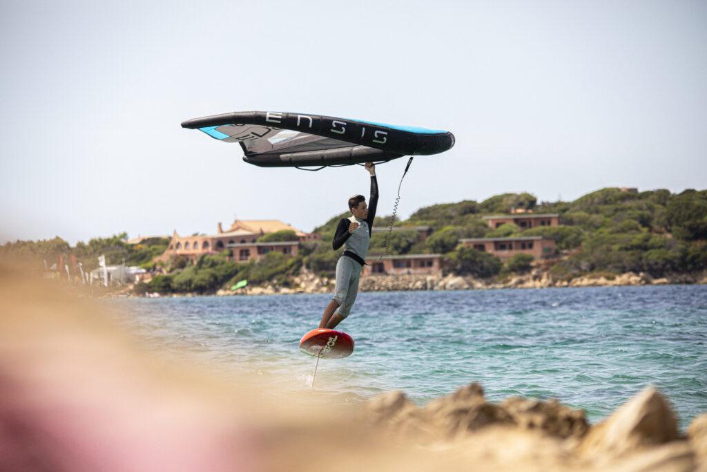 ENSIS Riccardo Zorzi Wing Foil Tour Porto Pollo and Malcesine Lake Garda